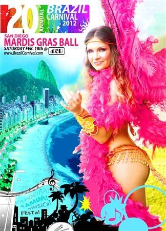 Annual San Diego Brazil Carnival Mardi Gras Ball