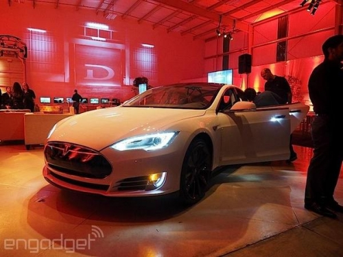 Tesla Unveils The D At Event In Los Angeles